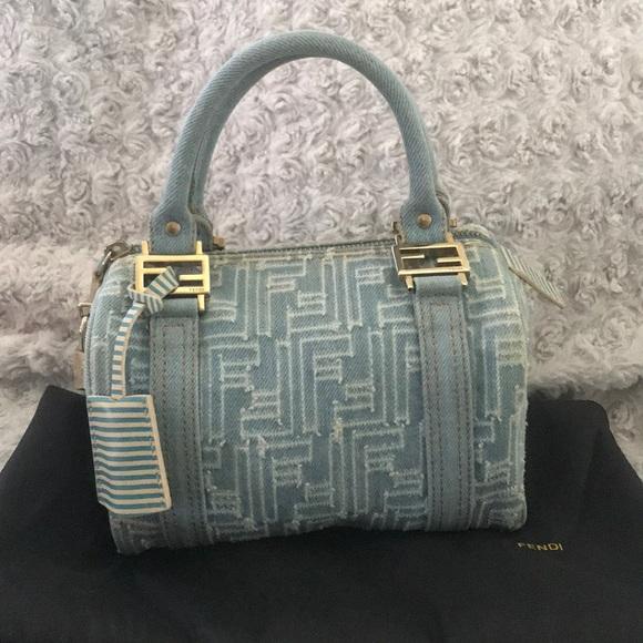 a98bdb5512 Fendi Bags   Zucca Distressed Denim Mini Bag Bauletto   Poshmark